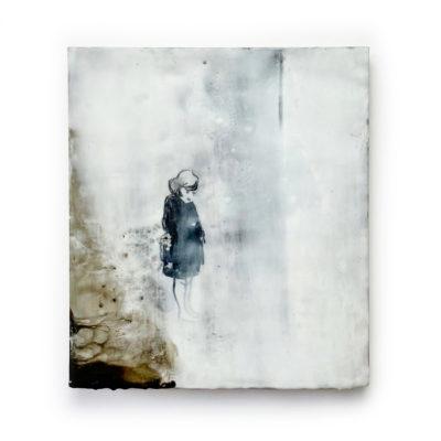 Little girl-28x32-Encaustic-2019 €995,-